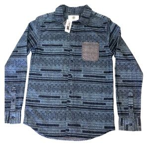 Pacsun On The Byas Long Sleeve Button Up Aztec